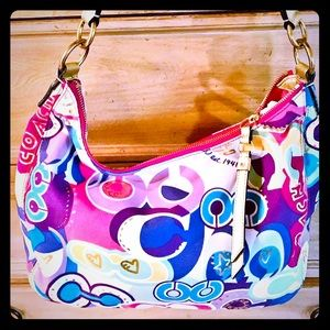 Gorgeous colorful coach tote bag